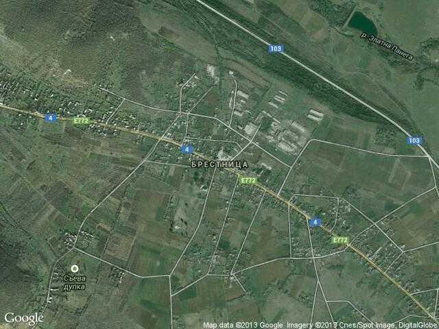 Сателитна карта на Брестница