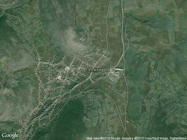 Сателитна карта на Галата