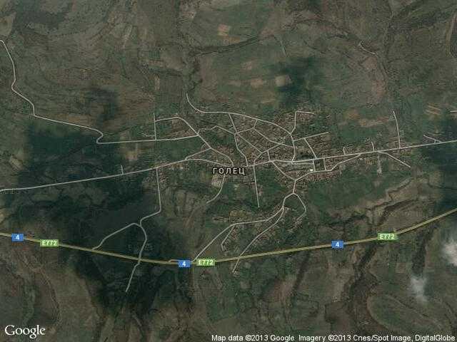 Сателитна карта на Голец