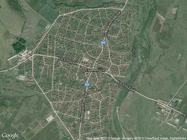 Сателитна карта на Дерманци