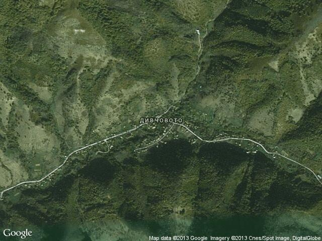 Сателитна карта на Дивчовото