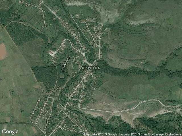 Сателитна карта на Драгана