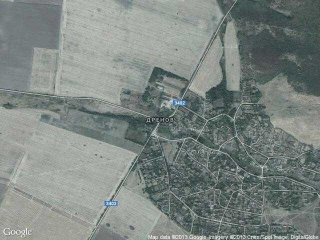 Сателитна карта на Дренов