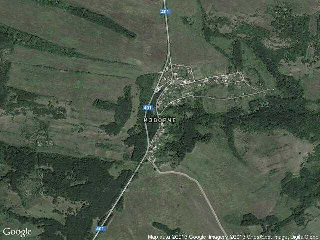 Сателитна карта на Изворче