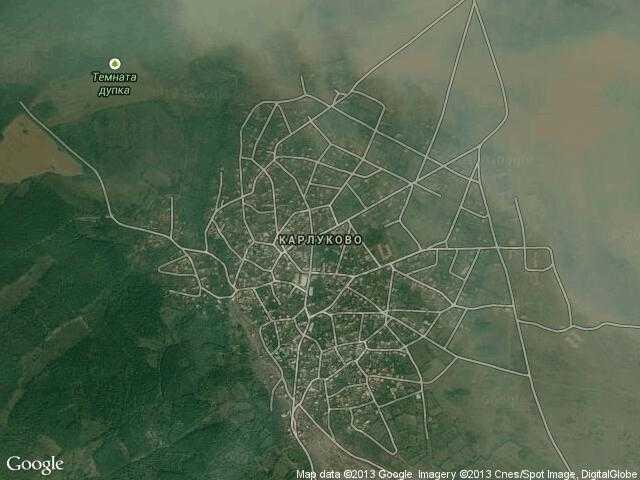 Сателитна карта на Карлуково