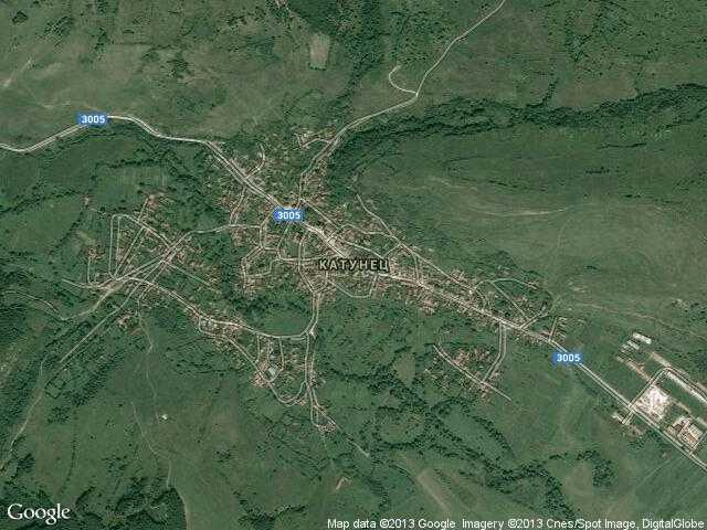 Сателитна карта на Катунец