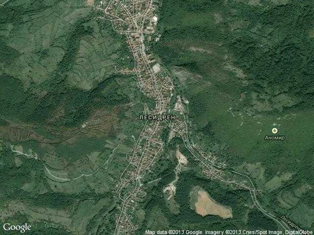 Сателитна карта на Лесидрен