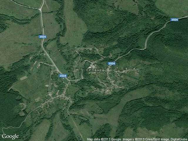 Сателитна карта на Орляне