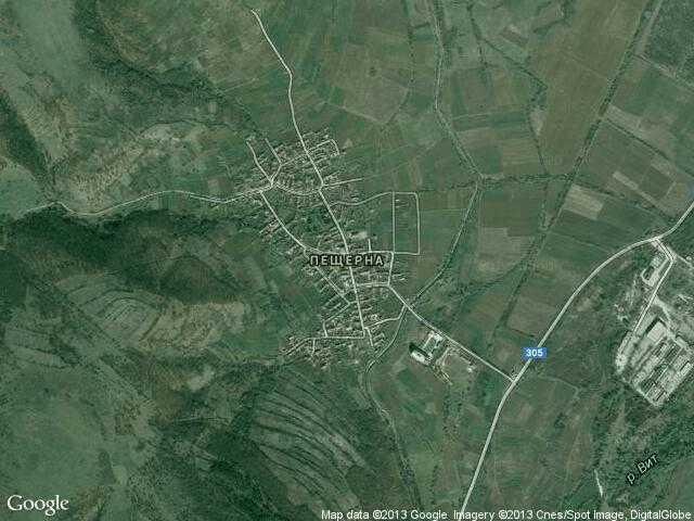 Сателитна карта на Пещерна