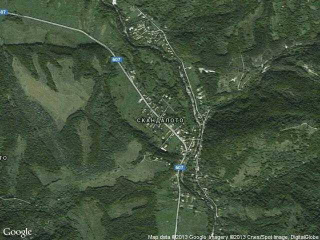 Сателитна карта на Скандалото