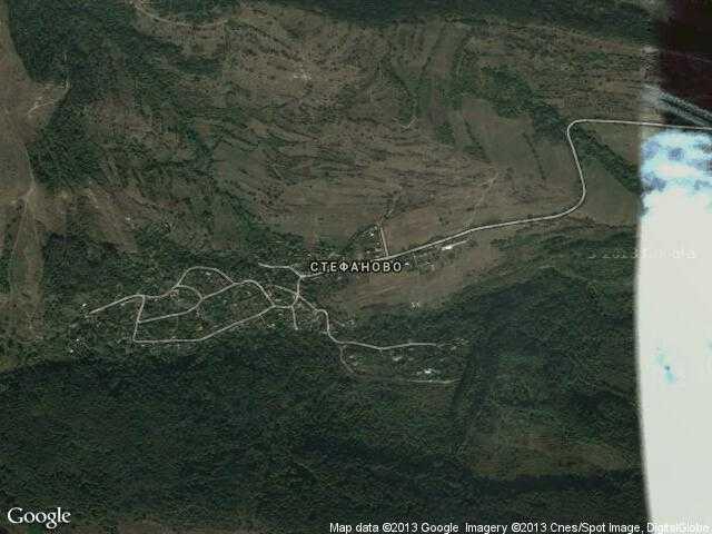 Сателитна карта на Стефаново