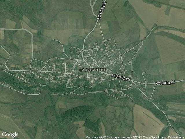 Сателитна карта на Тодоричене