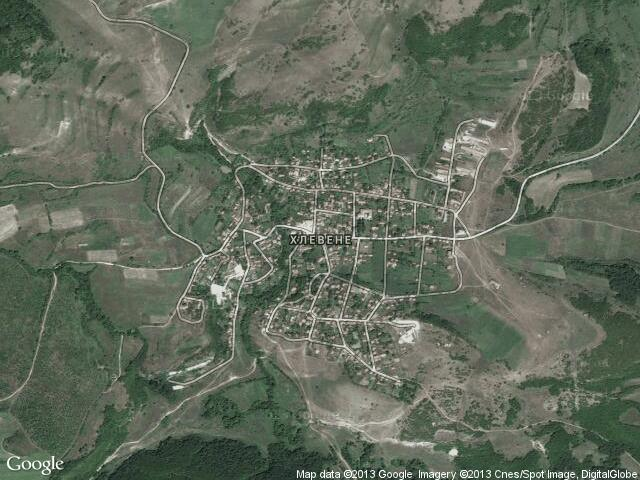 Сателитна карта на Хлевене