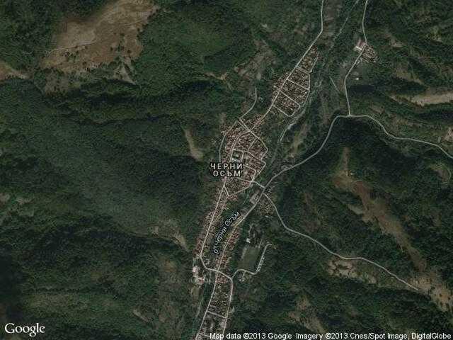 Сателитна карта на Черни Осъм