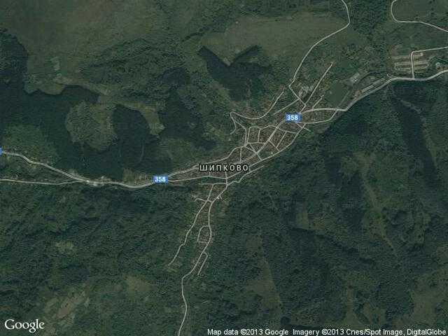 Сателитна карта на Шипково