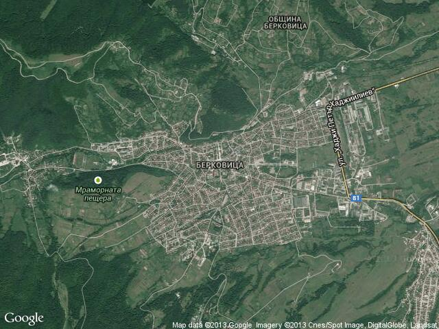 Сателитна карта на Берковица