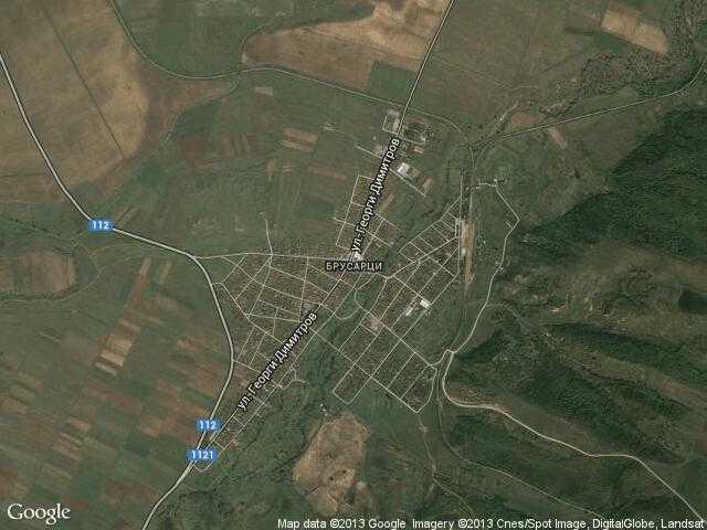 Сателитна карта на Брусарци