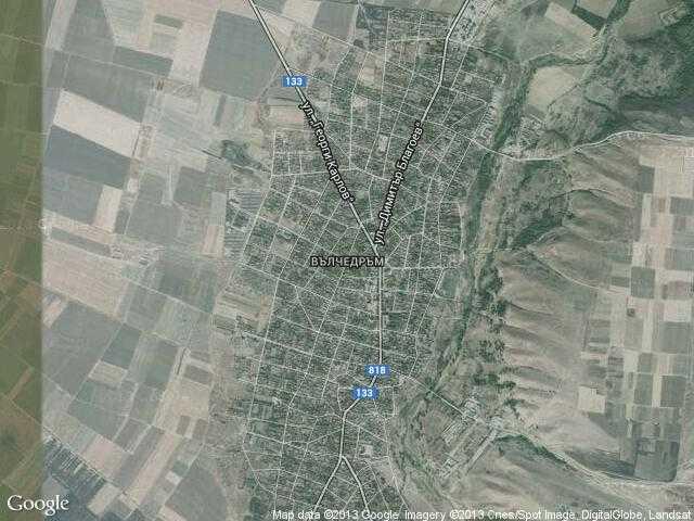 Сателитна карта на Вълчедръм