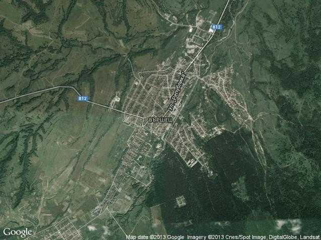 Сателитна карта на Вършец
