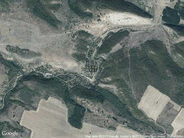 Сателитна карта на Бели брег