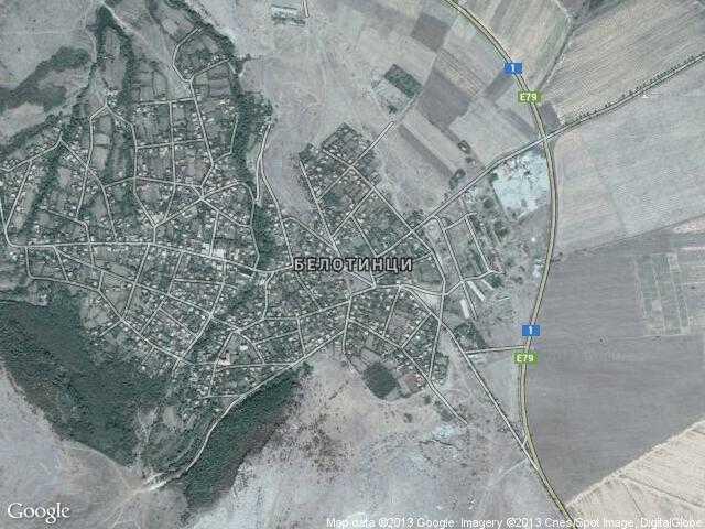 Сателитна карта на Белотинци