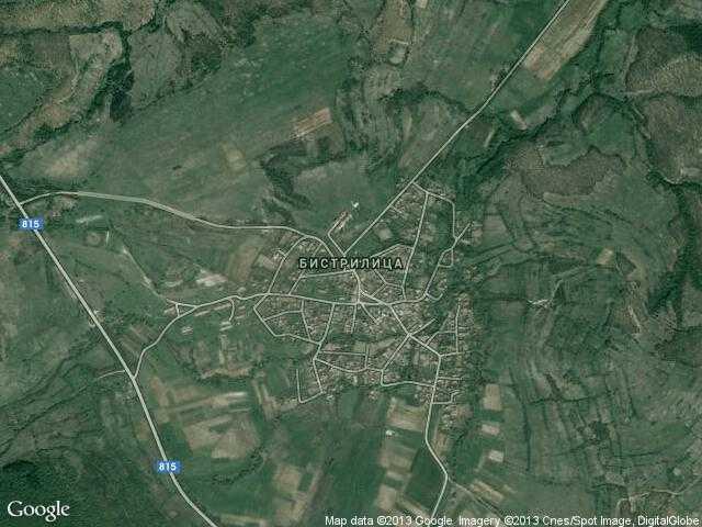 Сателитна карта на Бистрилица