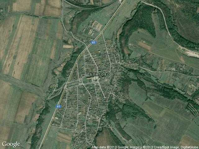 Сателитна карта на Благово