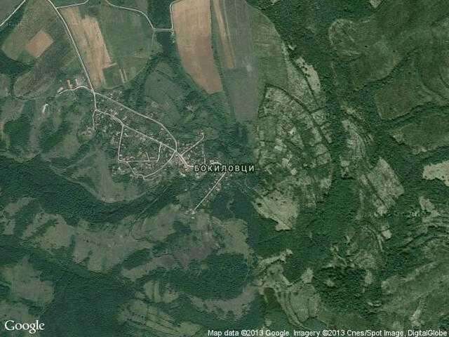 Сателитна карта на Бокиловци