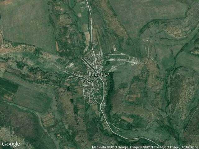 Сателитна карта на Видлица