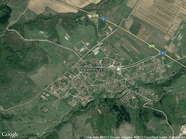 Сателитна карта на Винище