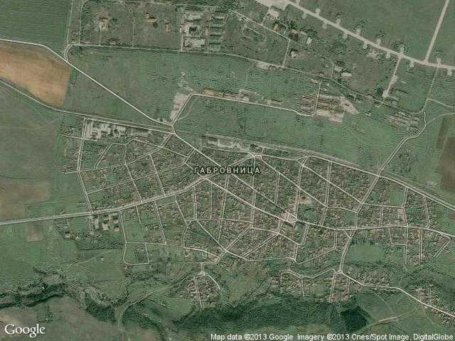 Сателитна карта на Габровница