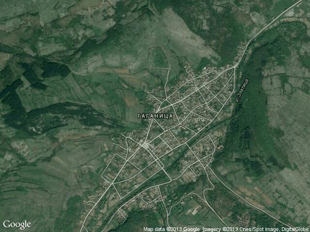 Сателитна карта на Гаганица