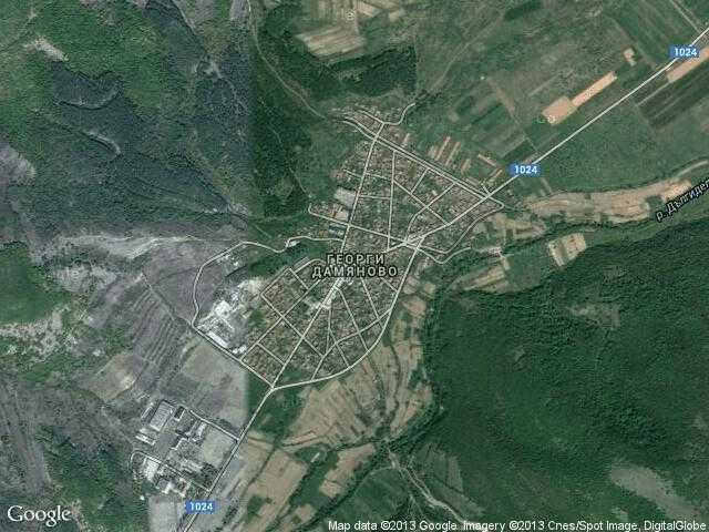 Сателитна карта на Георги Дамяново