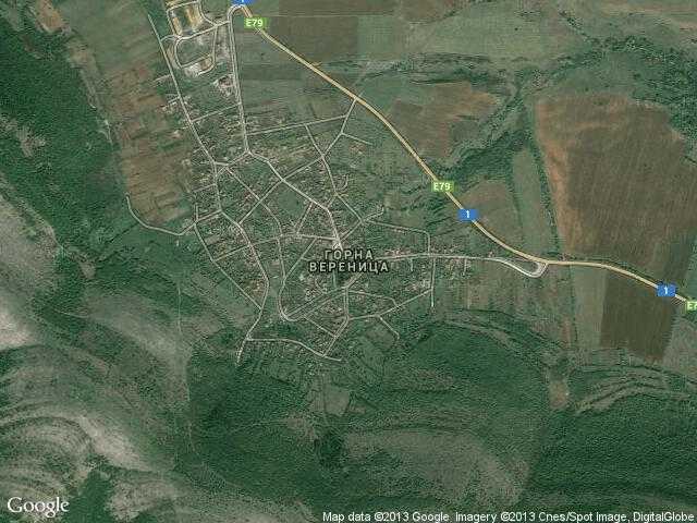 Сателитна карта на Горна Вереница