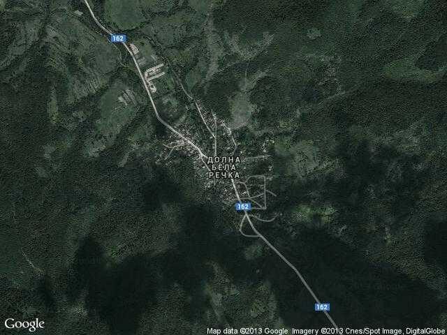 Сателитна карта на Долна Бела речка