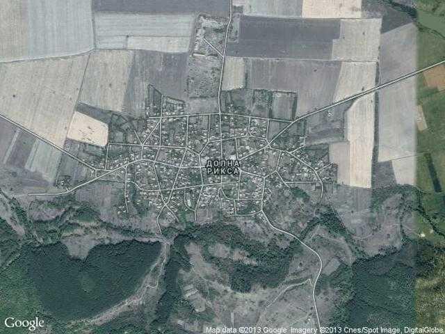 Сателитна карта на Долна Рикса