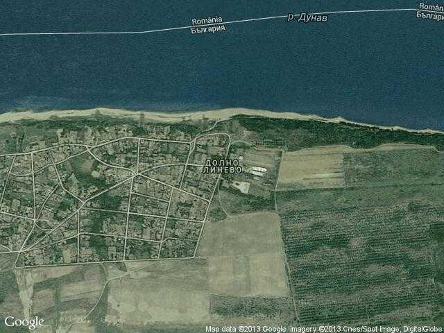 Сателитна карта на Долно Линево