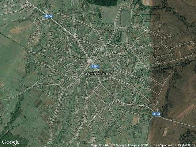 Сателитна карта на Замфирово