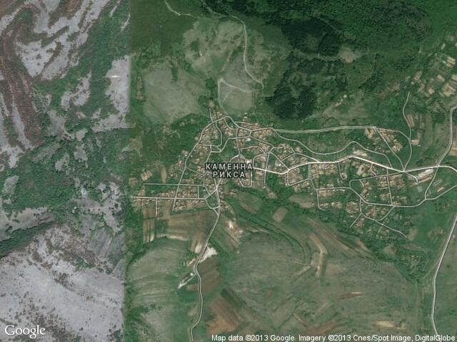 Сателитна карта на Каменна Рикса
