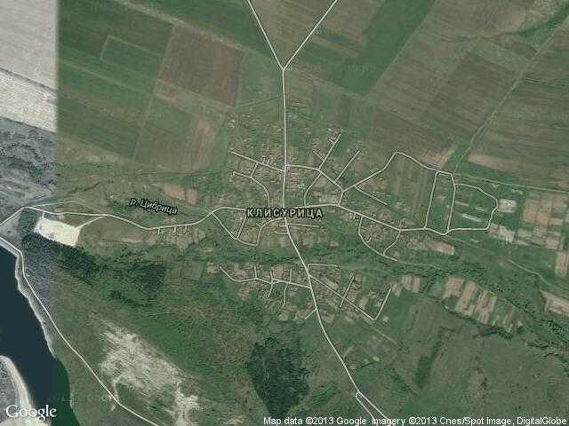 Сателитна карта на Клисурица