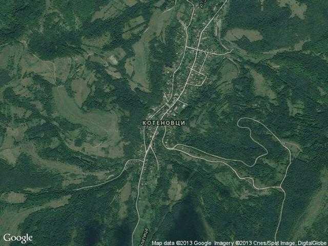 Сателитна карта на Котеновци
