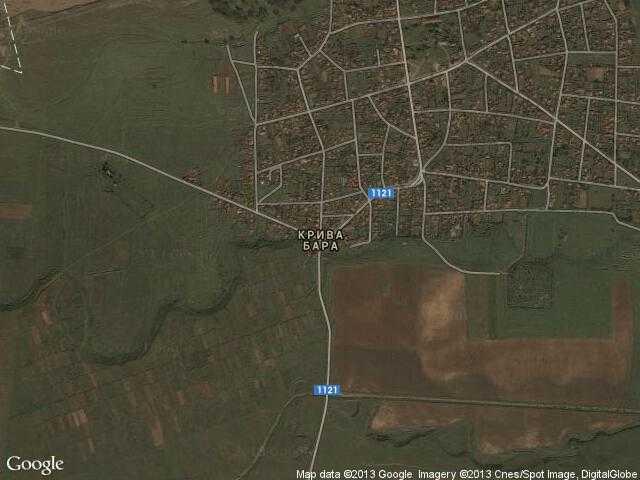 Сателитна карта на Крива бара