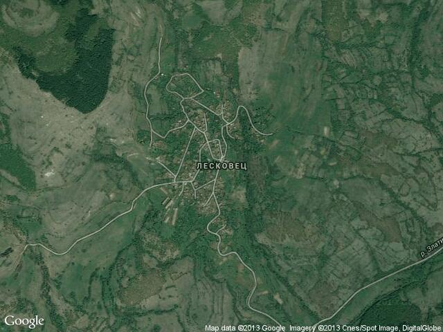 Сателитна карта на Лесковец