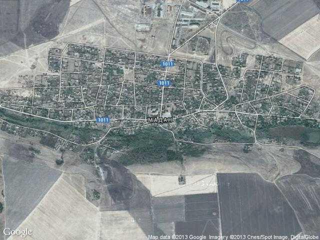 Сателитна карта на Мадан