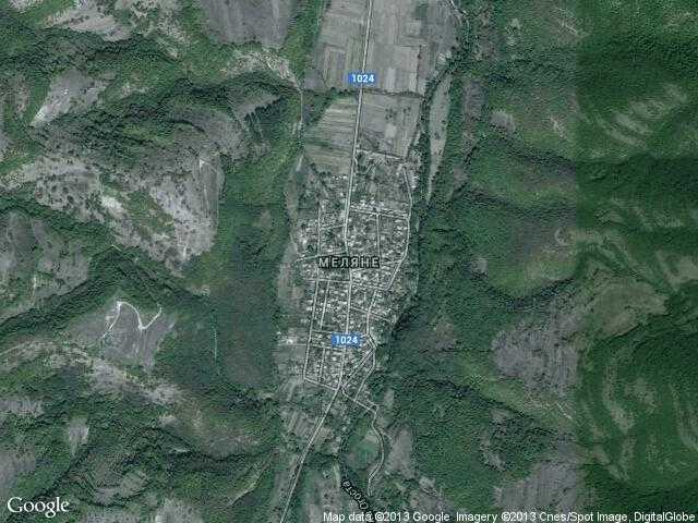 Сателитна карта на Меляне