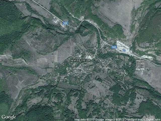 Сателитна карта на Митровци