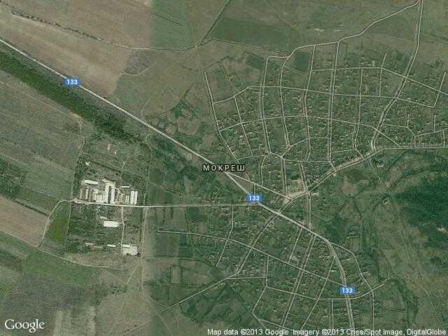 Сателитна карта на Мокреш