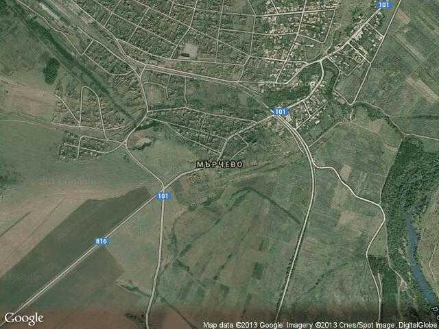 Сателитна карта на Мърчево