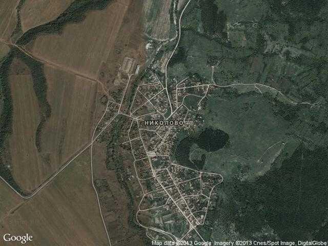 Сателитна карта на Николово