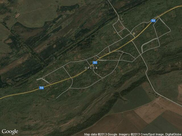 Сателитна карта на Орсоя